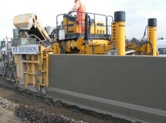 Slipform retaining wall