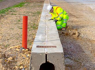 Slipform-drainage